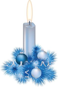 CHRISTMAS BLUE CANDLE *