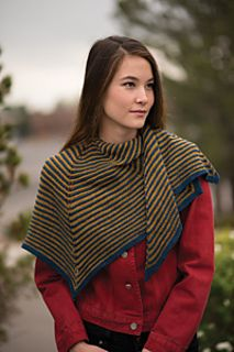 Garter stitch combines with easy increases to create this deceptively simple shawl. The pointed edge sets this stunning accessory apart, making it a true statement piece that will transition from season to season and accent any outfit.