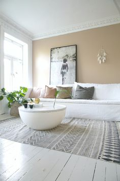 Livingroom with a dust pink peach color