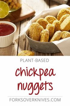 Kids go crazy for these vegan alternatives to chicken nuggets. Serve our tender-on-the-inside, crispy-on-the-outside chickpea bites with ketchup and BBQ...