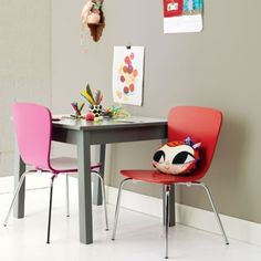 Good Kids Grey Square Play Table | The Land Of Nod