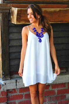 // perfect white dress CLICK THIS PIN if you want to learn how you can EARN MONEY while surfing on Pinterest