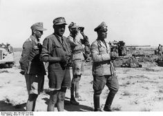 Rommel near El Alamein in June 1942.