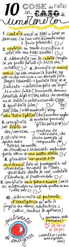 Learning Italian - cose da fare in caso di umore nero (things to do when you are in a bad mood)
