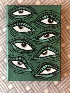 Perfect small piece for a shelf, nightstand, desk, or wall! Coming soon to my Etsy shop SAVVYacrylicart 🛍✨ Hippie Painting, Trippy Painting, Arte Indie, Indie Art, Small Canvas Art, Mini Canvas Art, Easy Canvas Art, Simple Canvas Paintings, Arte Grunge