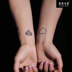 Plus de 1000 id es propos de tatoo diamant sur pinterest - Tatouage diamant poignet ...