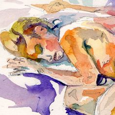 Mature Nude Painting of Woman Asleep  Safe by Jen by JenTheTracy, $100.00