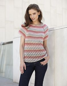 Model / Pattern of Sweater of Woman of Spring / Summer from KATIA Pull Beige, Crochet Hook Sizes, Thing 1, Trends, How To Look Pretty, Sweaters For Women, Spring Summer, Feminine, Pattern