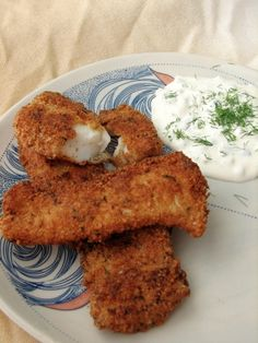 Tender fish sticks that are low carb and gluten free. Crispy crust and tangy sauce make for a perfect meal.