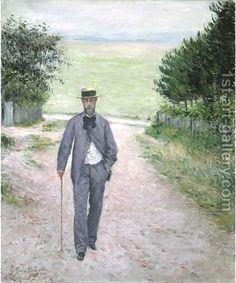 Gustave Caillebotte:Promeneur au bord de la mer