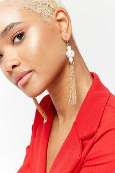 Faux Pearl Drop Earrings | Forever21