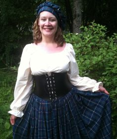 Complete Scottish Highland Lass Costume by FatTabbyLeather on Etsy, $75.00