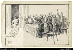 http://trove.nla.gov.au/version/22697949 'Enfranchised!' Drawing from 1902 by Herbert Cotton, courtesy of the National Library of Australia