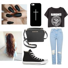 Untitled #20 by millie-huerta on Polyvore featuring polyvore fashion style Topshop Converse MICHAEL Michael Kors Casetify