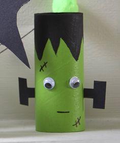 How to Make Halloween Toilet Roll Craft #Halloween #KidsCraft #Frankenstein