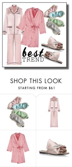 """Pajamas contest"" by faten-m-h ❤ liked on Polyvore featuring Olivia von Halle, Cosabella and N°21"