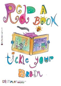Read a book...tickle your brain! Part of the 15 1/2 ways to be more play ebook.