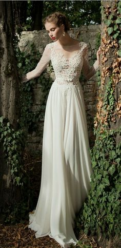 love the lace torso, long sleeves and v neck - also, the chiffon is beautiful but dont know if this is what I want?