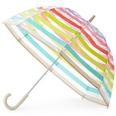 Clear Umbrella in Multi Stripes by Kate Spade