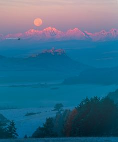 Supermoon over The High Tatras, Slovakia by Peter Majkut Photography