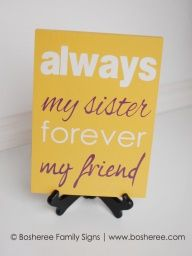 Sister Quote Sign  Painted Plaque Customized with by Bosheree, $15.00