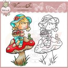 Whiff of Joy Rubber Stamp - Picking Toadstools