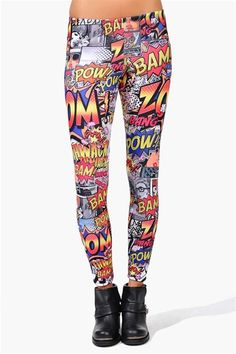Comic book lovers leggings- These are wild!