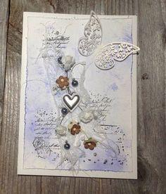 Large handmade wedding greeting card. Blue decorative birthday card, big wedding card, A5 wedding card, fancy handmade card, 3D floral card