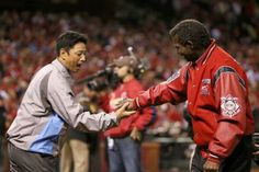 Former Cardinal So Taguchi and Lou Brock talk about Brock's World Series ring before Game 4 of the World Series. 10.27.13