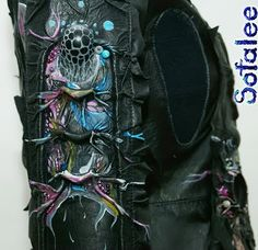 leather jacket with painted 03