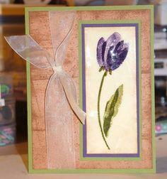 Distressed/Cracked Tulip by kimreid_stamper - Cards and Paper Crafts at Splitcoaststampers