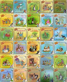 Colección Clásicos de Disney. 30 cuentos que se acompañaban de su respectivo cassette. Fueron mis primeras lecturas y conservo los 30 libros en perfectas condiciones con la esperanza de que para mi hija sean igual de importantes de lo que lo fueron para mí. Los cassettes pasaron a mejor vida, por suerte pude encontrarlos en MP3 ;)