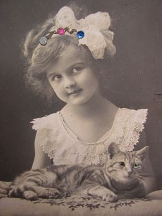 Victorian child with cat. by pollyanna.uk, via Flickr