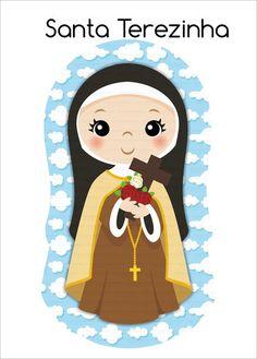 Ccd Activities, Sainte Therese De Lisieux, Baptism Cookies, Garden Mural, Bible Stories For Kids, Catholic Crafts, Jesus Art, Prayer Cards, Catholic Saints