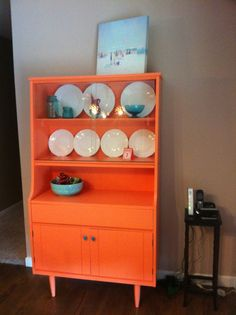painted china hutch