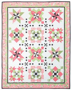 My Secret Garden Block of the Month Pattern by Sherri Falls for This and That Fabrics used Olive's Flower Market by Lella Boutique Photo Credit Lella Boutique Quilt Kits, Quilt Blocks, Garden Blocks, Pinwheel Quilt, Sampler Quilts, Block Of The Month, Garden Signs, Fat Quarter Shop, My Secret Garden