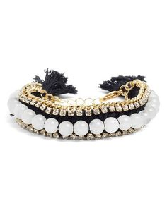 rhinestone & beads bracelet