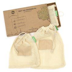 TreeBox Premium Obst- und Gemüsebeutel im 3er Set Jute, Burlap, Recycling, Household, Reusable Tote Bags, Life Hacks, Think, Zero Waste, Sustainability