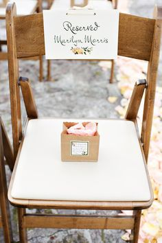 Day-Of Wedding Stationery Inspiration and Ideas: Reserved Signs via Oh So Beautiful Paper (8)