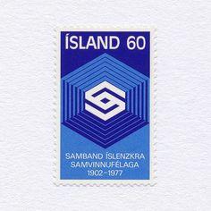 75th Anniversary of Co-operative Movement (60). Iceland, 1977. Design: Þröstur Magnússon. #mnh #graphilately