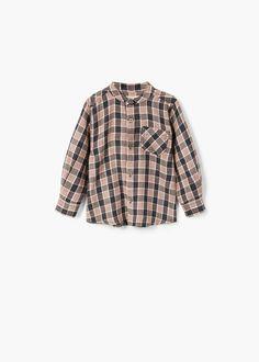 Camisa quadrados bolso - Menino | MANGO Kids Portugal