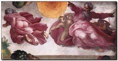 Schilderij Michelangelo, Creation of Sun, Moon, Pl - mypainting http://www.mypainting.nl/detail/936156-schilderij-michelangelo-creation-of-sun-moon-pl