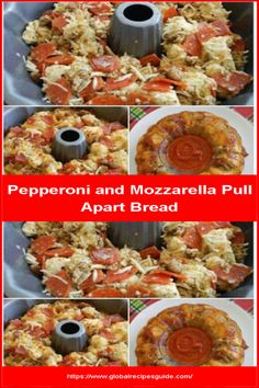 Pepperoni and Mozzarella Pull Apart Bread - Daily World Cuisine Recipes Slider Sandwiches, Whats Gaby Cooking, Pull Apart Bread, Football Food, Daily Meals, Fabulous Foods, What To Cook, Desert Recipes, Pepperoni