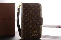 Cheap Louis Vuitton Samsung Galaxy Note 3 Leather Case hoesjes custodie Monogram - Brown 02
