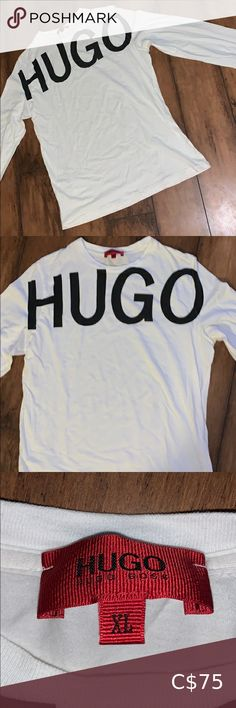 Hugo Boss Men's Long Sleeve Great condition. 100% authentic Nothing wrong with this! Says XL but I'd say fits like a L. Hugo Boss Shirts Tees - Long Sleeve Hugo Boss Top, Hugo Boss Shirts, Hugo Boss Orange, Orange Long Sleeve Shirt, Long Sleeve Shirts, Diamond Hoodie, Strapless Bodysuit, Boss Black, Dolce And Gabbana Man