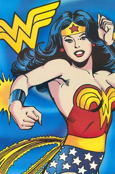 Wonder Woman Retro Acton Pose DC Comics Art Poster 24x36