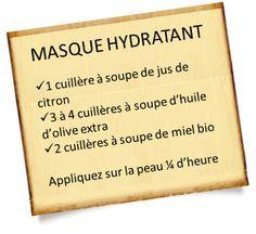 Masque hydratant maison au citron, huile d'olive et miel
