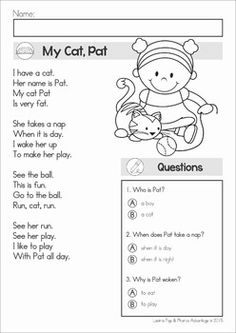 Image result for poem comprehension for grade 1 worksheets reading comprehension fluency phonics poems color and black and white this ibookread ePUb