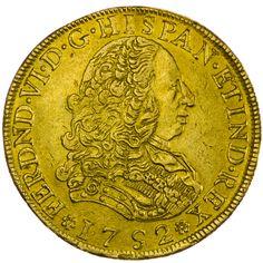 Fernando VI. 1746 - 1760    8 Escudos 1752 Gold