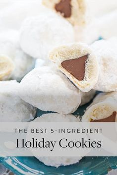 These Peppermint Cookies Only Have 4 Ingredients?!! via @PureWow